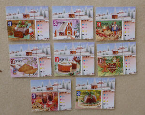 2013-JERSEY-CHRISTMAS-DELACASIES-SET-OF-8-MINT-STAMPS