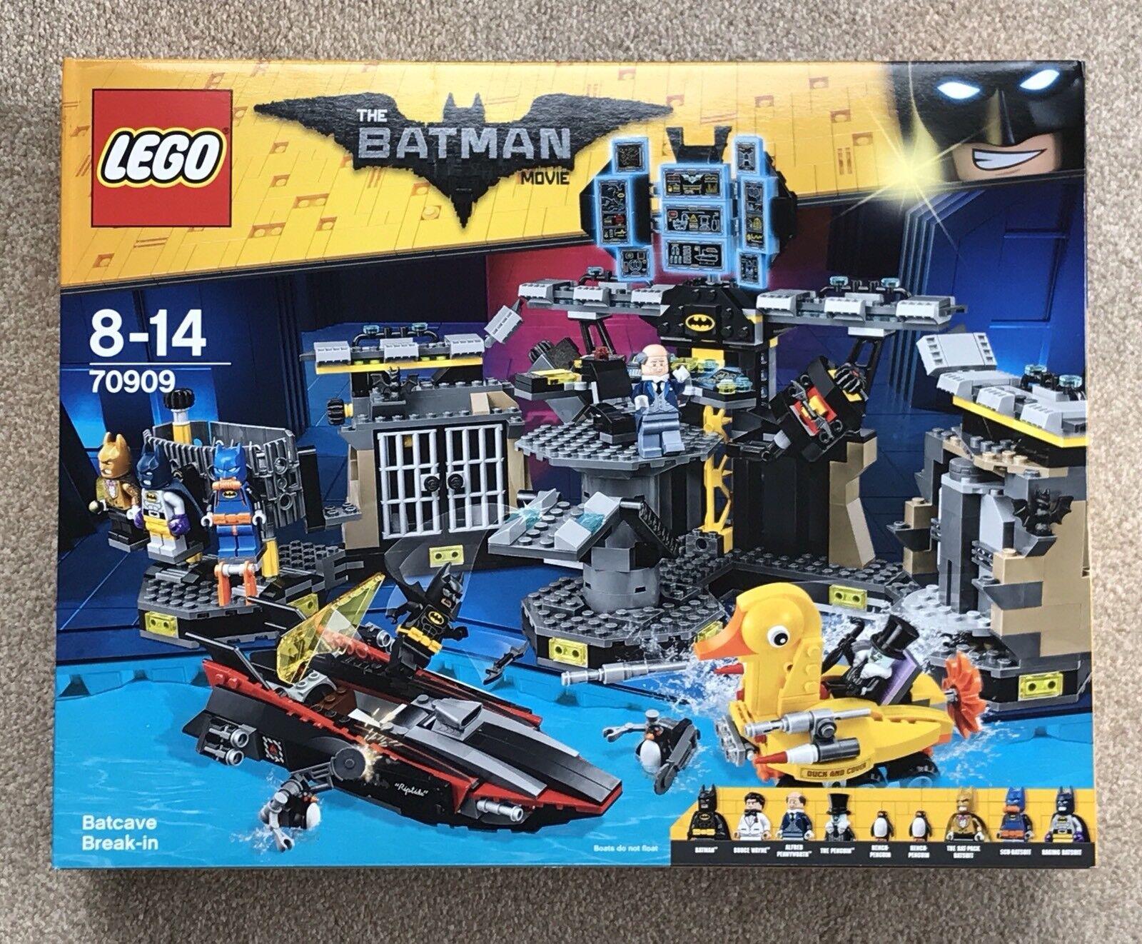LEGO THE BATMAN MOVIE - BATCAVE BREAK-IN (70909) - New In Box - FREE P&P