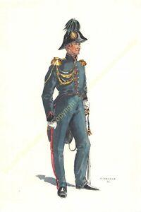 Illustration J.Demart Militaria Belgien Génie Offizier 1834