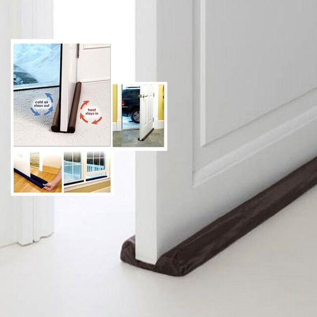 Twin Door Draft Dodger Guard Stopper Energy Saving Protector Doorstop Home Room