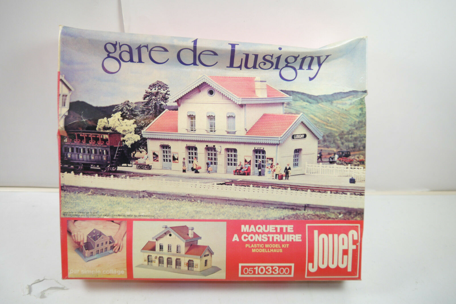 Jouef Railway Station Lusigny Gare de Plastic Model Building Set Gauge H0 New (