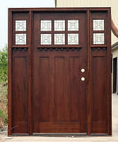 Mahogany Exterior  Door  arts and crafts ac 901 2 301 sidelights Art Glass