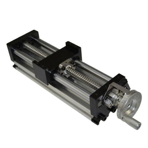 New 100-1000mm Stroke Manual Sliding Table Ball Screw Linear Stage CNC Slide