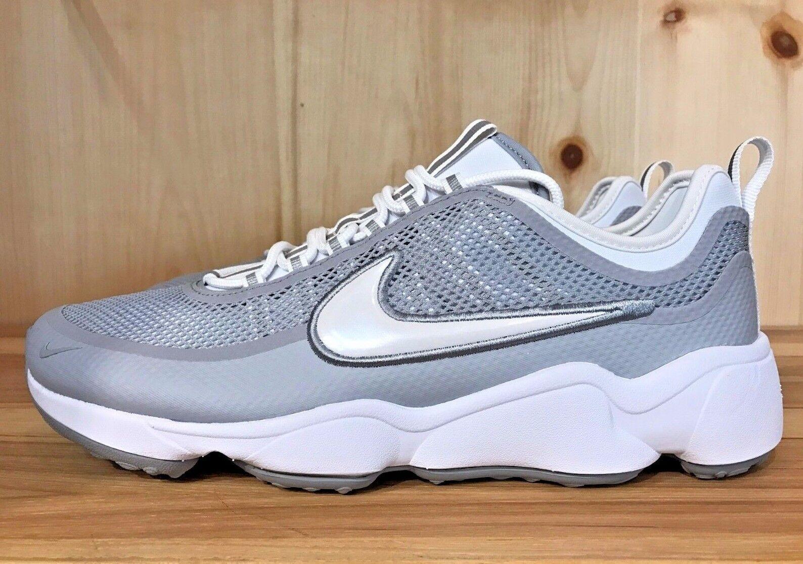 Nike zoom spiridon lupo bianco grigio formazione degli uomini 876267-100 dimensioni 8 - 10