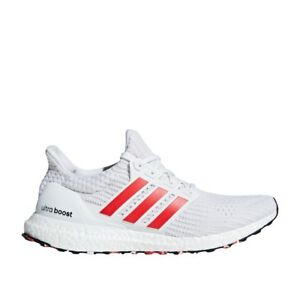 adidas Ultraboost Shoes White Active Red DB3199 | Chicago