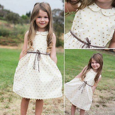 Toddler Kids Baby Girls Summer Clothes Dress Princess Party Pageant Tutu Dresses