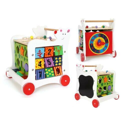Carrello primi passi Orso in legno gioco per bambini Legler 7393