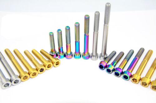 4x M6 x30//35//40//45//50//55//60//70//80//95mm Titanium Hex Socket Cap Head Screws Bolts