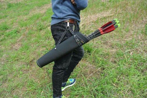 Arrow Quiver Bag Back Shoulder Waist 52X13cm Archery Pure Leather Case F Archery