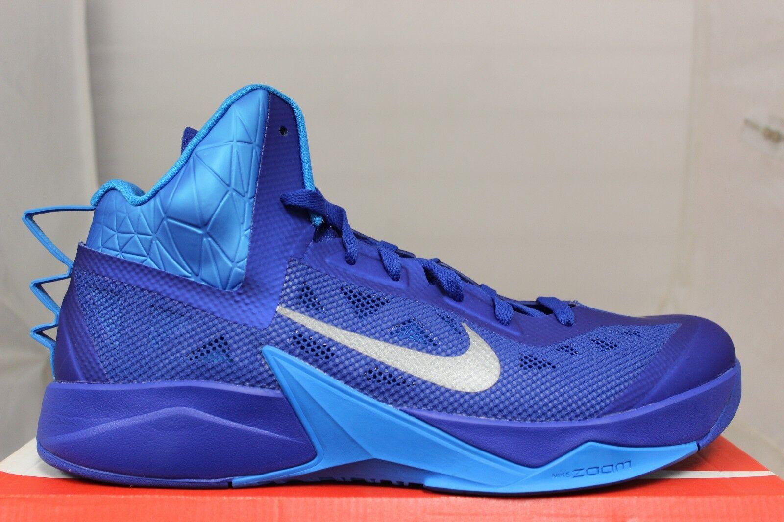 Nike Zoom Hyperfuse 2013 Tb 615496400 Royal Spiel Silber Brandneu