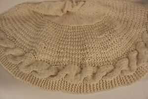 Nwt Pottery Barn Chunky Knit Christmas Tree Skirt Ivory 52