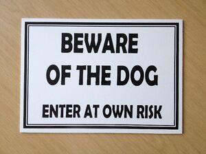Méfiez-vous du chien- saisissez au risque propre signe en plastique. (dl-07)-afficher le titre d`origine 97ntmJs7-07222111-143241137