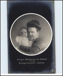 1910-Adel-Monarchie-Koenigin-Wilhelmine-von-Holland-Prinzessin-Juliana-als-Kind