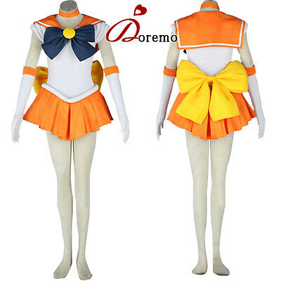 SAILOR MOON Sailor Venus Cosplay Costume Turnouts Party Dress Customized New
