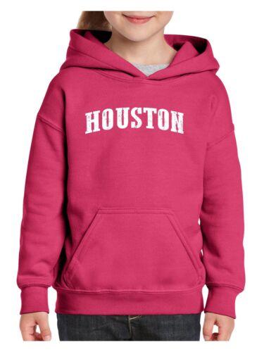 Houston TX Texas Flag Map Longhorns Bobcats Home Texas Youth Hoodies Sweater