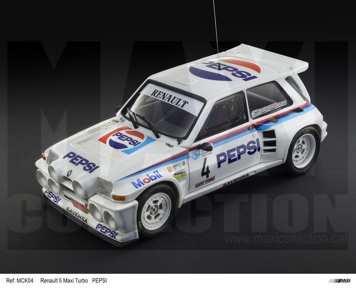 buscando agente de ventas MaxiCollection Resin kit kit kit Renault 5 Maxi Turbo LE-  1 24 scale - PEPSI (Kit nº5)  a precios asequibles