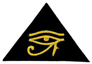 Details about Patch patches backpack embroidered iron sew on badge eye of  horus biker symbol