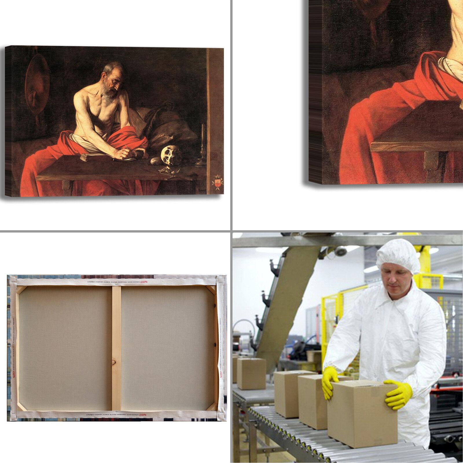 Caravaggio san 2 Girolamo scrivente 2 san quadro stampa tela dipinto arRouge o casa 397251