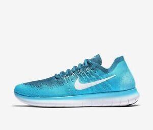 9ad6d8fbd2e1 Nike Free RN Flyknit Men s Blue Lagoon Running Training Shoes 880843 ...