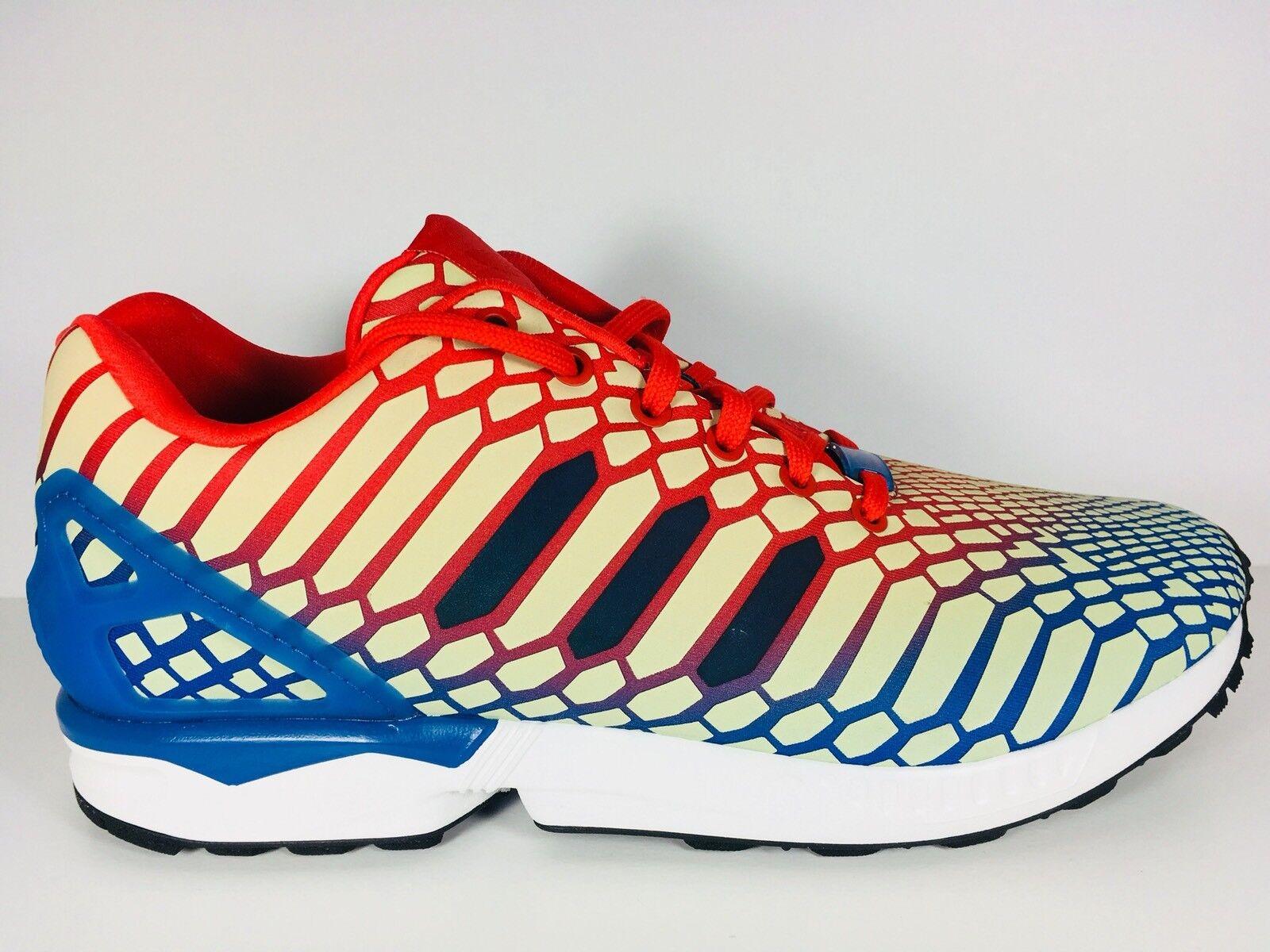 adidas zx rot - flux - schlange rot zx / gelb / blau - mens # aq4533 us - größe. acbd3d