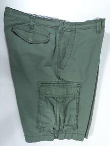 Tommy Hilfiger Para Hombre Pantalones Cortos Cargo Verde Militar Talla 40 Frente Plano Entrepierna 11 En Ebay