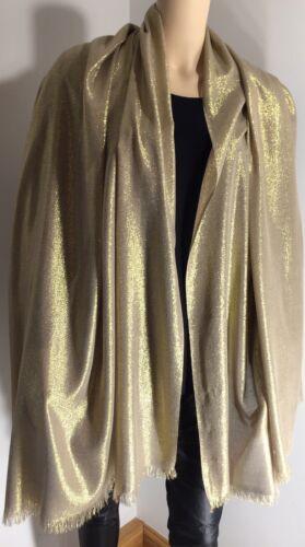 Or Brillant Pashmina écharpe châle Wrap S Softest sentir Brillant Surdimensionné Long Nouveau
