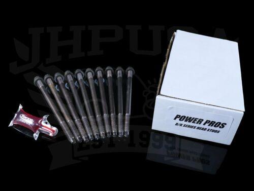 Power Pros Head Stud Kit Honda Acura B//K Series Headstuds B18C K20 K24