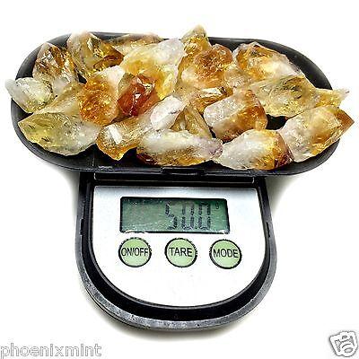 50+ Grams Brazil CITRINE Lot Natural Crystal Points in Velvet Bag RANDOM PICKED