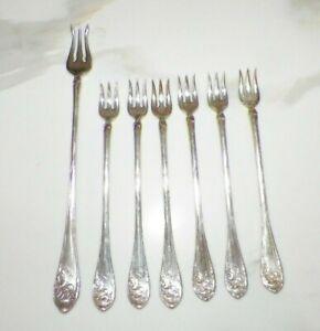 Vintage Forks Silver Plated Antique Silver Cocktail Forks