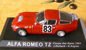 ALFA-ROMEO-TZ-83-COUPES-DES-ALPES-1964-RED-IXO-1-43-SHELL-ROLLAND-AUGIAS