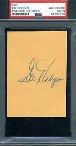Gil-Hodges-PSA-DNA-Coa-Autograph-Hand-Signed-Mint-3x5-Index-Card