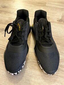 Adidas-Pro-Bounce-2019-Black-White-Gold-Size-11-13-Low-Basketball-Shoes-EF0469