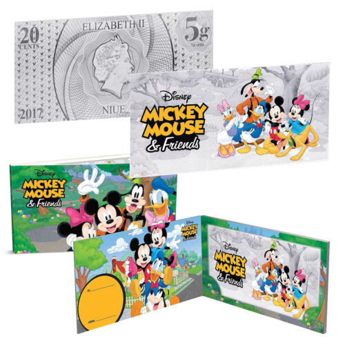 Mickey Mouse /& Friends 5g Silver Coin Note 2017