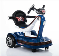 Mini Electric Toy Car For 2-5 Years Old Children – Self & Parent Control - Blue