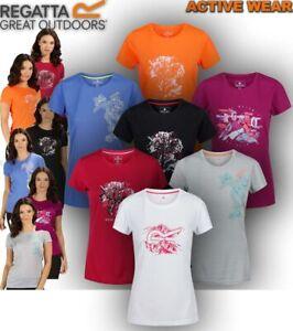 Regatta-Womens-T-Shirt-Short-Sleeve-Running-Hiking-Camping-Gym-Sport-Yoga-Fingal