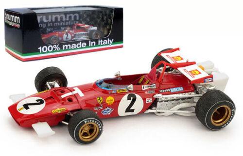 Brumm r313t Ferrari 312b # 2 T-car Italiano Gp 1970-Jacky canadiense 1//43 Escala