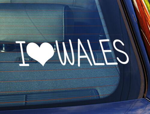 Autocollant Autocollant I love le pays de Galles Le collement électrostatique Fenêtre Voiture Signe