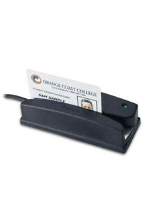 ID Tech Omni 3237-700US, 414 USB Bar Code Only, I/R, Magnetic Stripe  Reader