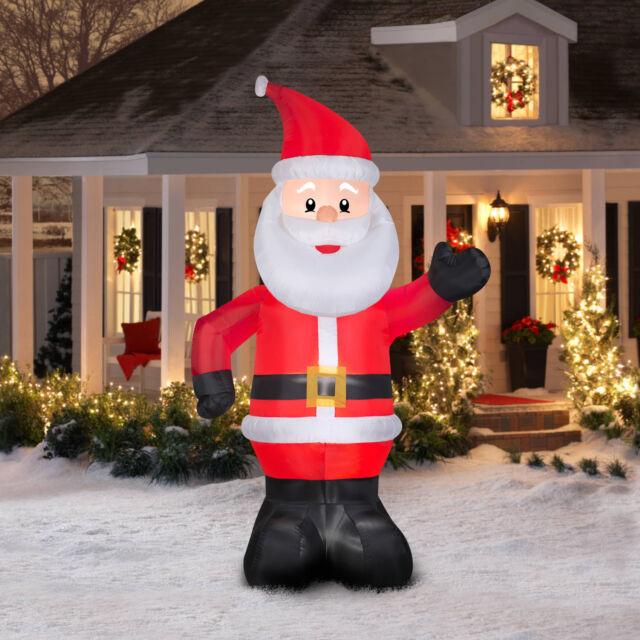 Holiday Time 10 FT Giant Santa Airblown Inflatable - Giant 10' Santa Claus Gemmy Christmas Airblown Inflatable Holiday Yard Decor