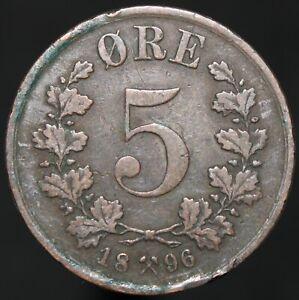 1896 | Norvège 5 Ore | Bronze | Pièces | Km Pièces-afficher Le Titre D'origine