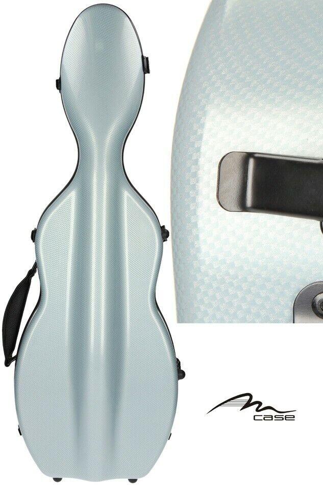 IE Fiberglass violin case UltraLight 4 4 M-case Graphite Blau