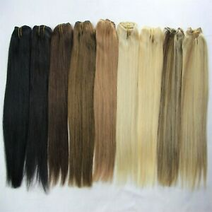 100g One Hairpiece Remy Weaving Weft Hair Real Human Hair Extension 14''~24'' US