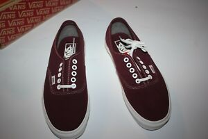50e69fd0f0ae Image is loading Vans-Authentic-Varsity-Suede-Red-Mahogany-Men-039-