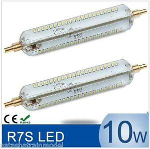 Due lampade silicone led r7s 10w 1100 lumen 118mm 20 no for Lampade a led lumen