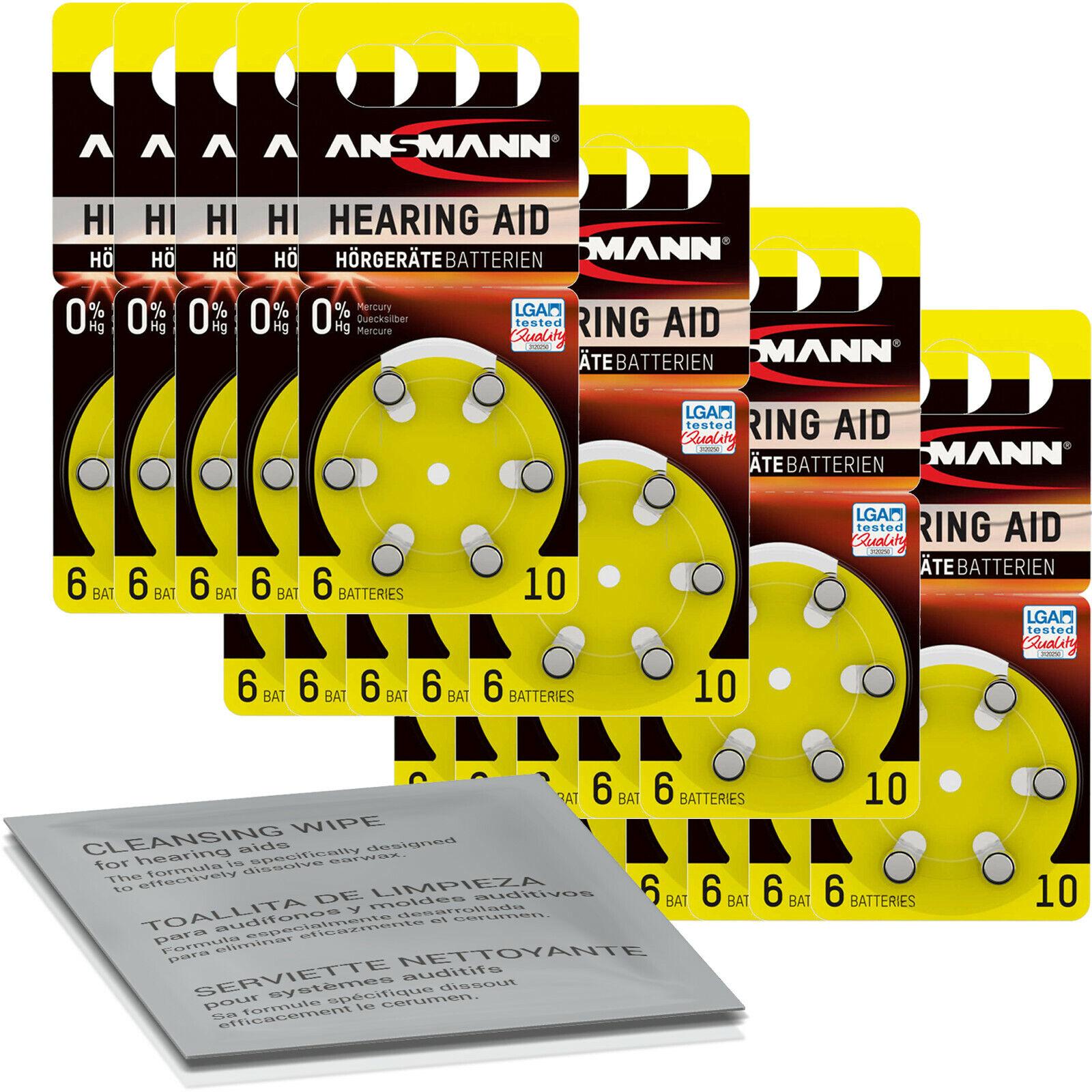 120x Ansmann Batteries Yellow PR70 10 (20x 6er Blister) + Cleaning Cloth