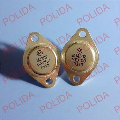 1pair AUDIO Transistor MOTOROLA/ON TO-3 MJ4502/MJ802
