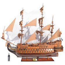 "7.3 FOOT 1690 San Felipe 88"" Wooden Ship Model Spanish Warship Galleon 100 LBS"