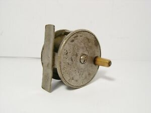 Vintage-Antique-1-4-034-Brass-Platewind-Fly-Fishing-Reel