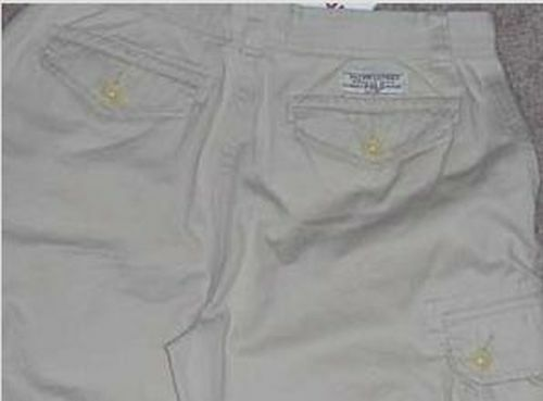 New Polo Ralph Lauren Boys Shorts 16 Beige Tan Twill Cargo Cotton