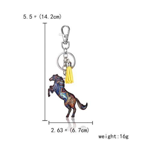 Cute Printing Cat Dog Horse Animal Key Chain Keychain Pendant Keyring Accessorie